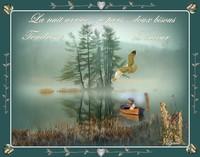 bonne nuit doux bisous-tendresse douceur la barque de lynea