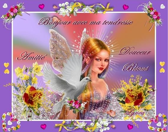 bonjour avec ma tendresse-douceur-amitié-bisous jolie fée - lynea