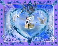 reves bleus-douceur-bisous-barque de lynea