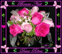 bonne nuit-doux rêves-roses-lynea
