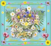 bonjour fleuri-tendresse douceur fleurs de lynea