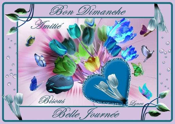 bon dimanche-belle journée-bisous-amitié tulipes de lynea