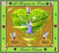 le bonjour du coeur-douces pensées-amitié de lynea