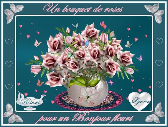 un bouquet de roses pour un bonjour fleuri de lynea