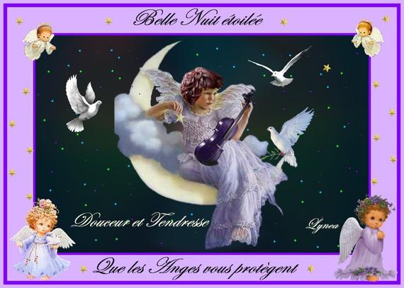 belle nuit étoilée-les anges---lynea