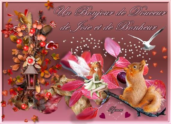 bonjour de douceur-joie-bonheur-lynea