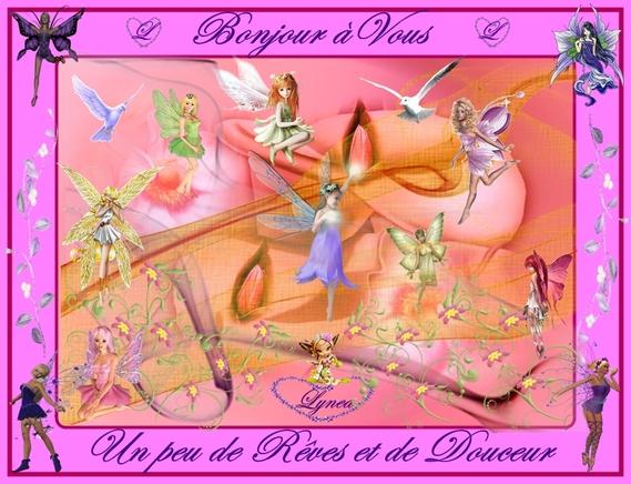 bonjour à vous-rêves et douceur-fées de lynea