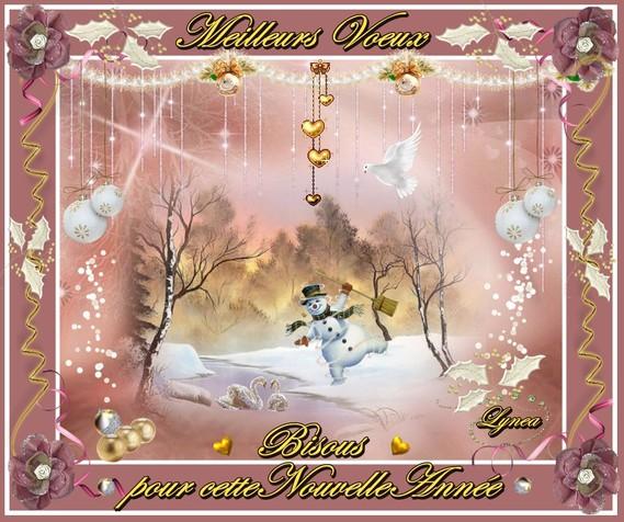 meilleurs voeux pour cette nouvelle année-bisous de lynea
