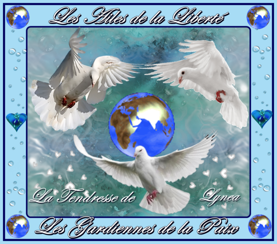 les ailes de la liberté-les gardiennes de la paix-colombes-lynea