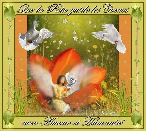 que la paix guide les coeurs avec amour et humanité-lynea