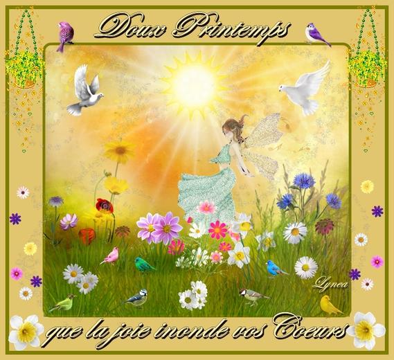 doux printemps-joie dans les coeurs-lynea