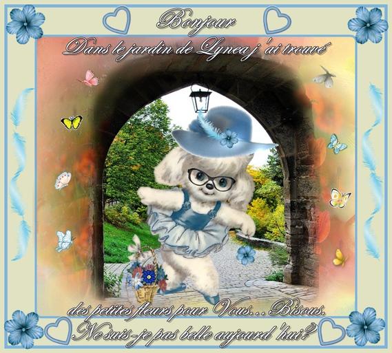 bonjour-dans le jardin des fleurs---lynea