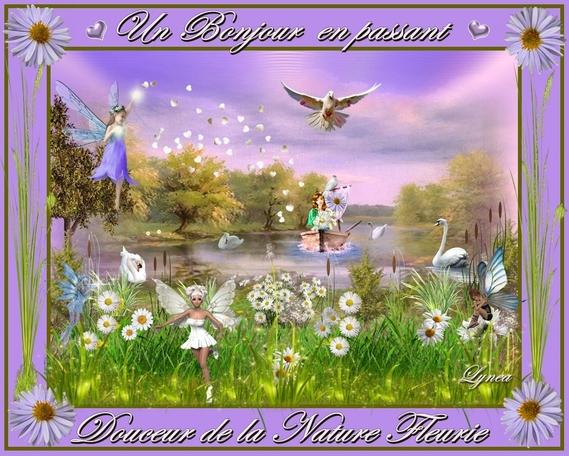 bonjour en passant-douceur de la nature fleurie-lynea