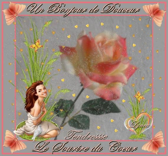 bonjour de douceur-sourire du coeur-lynea