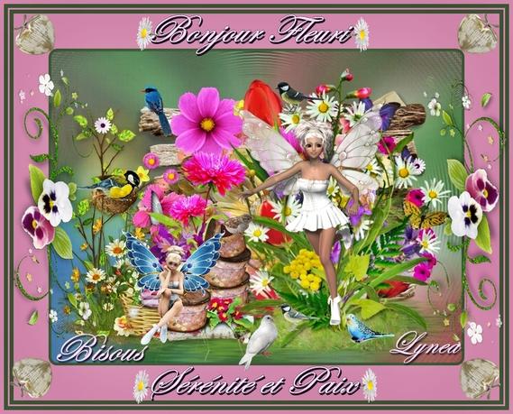 bonjour fleuri sérénité et paix-bisous de lynea