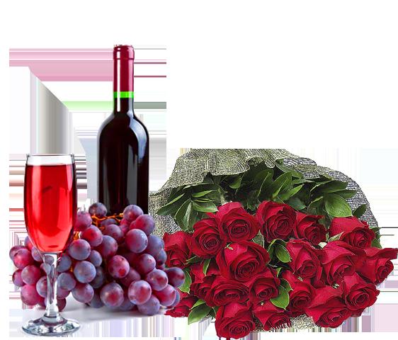 vin et fleurs