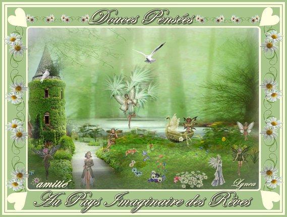 douces pensées-au pays imaginaire des rêves-amitié de lynea