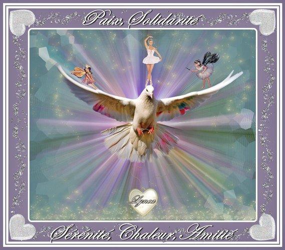 paix-solidarité-sérénité-chaleur-amitié la colombe et le coeur de lynea