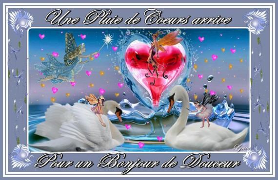 Bonjour Pluie De Coeurs Douceur Arrive Lynea Bonjour