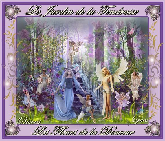 le Jardin de la tendresse-les fleurs de la douceur-bisous de Lynea