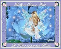 belle et douce nuit-le rêve est permis -bisous de Lynea