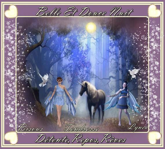 belle et douce nuit-détente-repos-bisous de Lynea