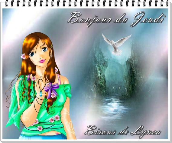 bonjour du Jeudi-Bisous de Lynea