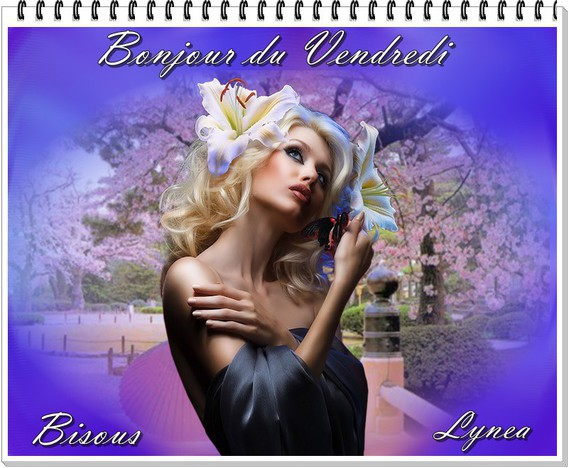 bonjour du vendredi-bisous de Lynea