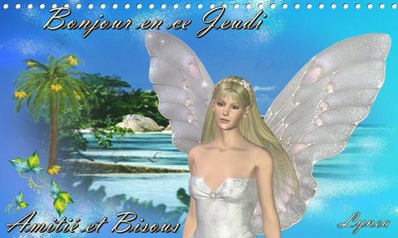 Bonjour en ce Jeudi-Amitié et Bisous de Lynea