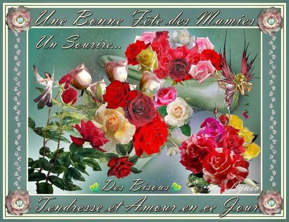 Bonne fête des Mamies-----tendresse et amour en ce jour---bisous-Lynea