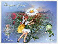 bonjour fleuri-bisous de Lynea