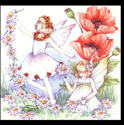 blanches et fleurs