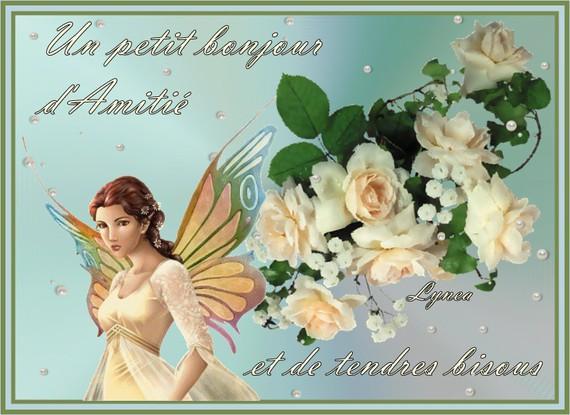 bonjour d'amitié et de tendres bisous de Lynea