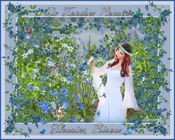 De tendres pensées fleuries-bisous de Lynea