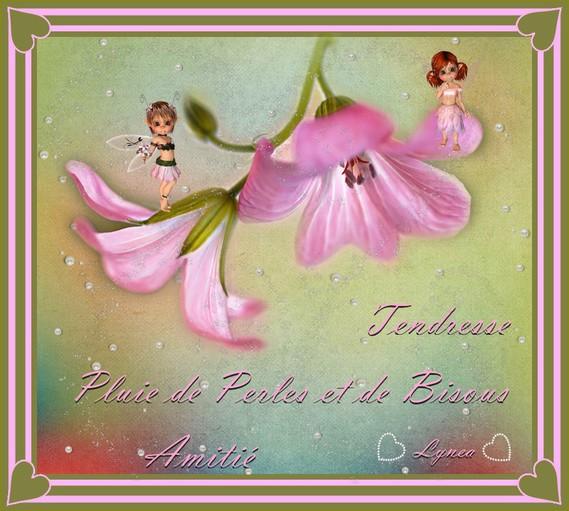 Pluie de perles et de bisous-tendresse-amitié de Lynea