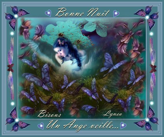 Bonne nuit-Un Ange veille-Bisous de Lynea