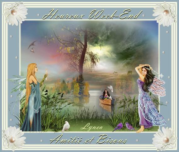 Heureux Week-End-Amitié et Bisous de Lynea