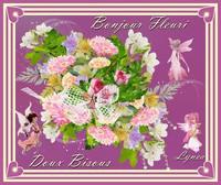 bonjour fleuri-Doux bisous de Lynea