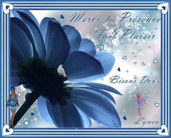 Merci---ta présence fait plaisir-Bisous doux de Lynea