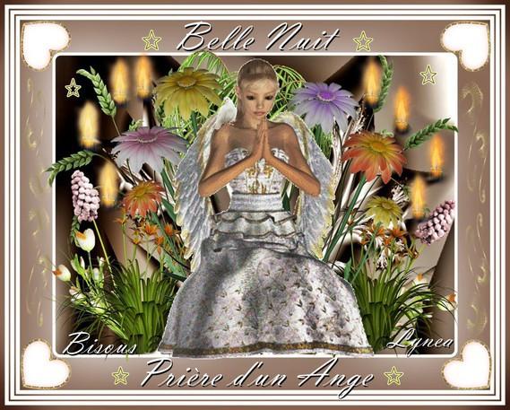 belle nuit-prière d'un ange-bisous de Lynea