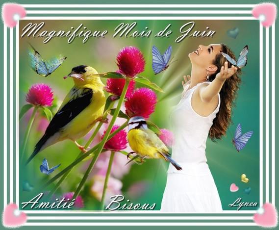 Magnifique mois de Juin-Amitié-Bisous de Lynea
