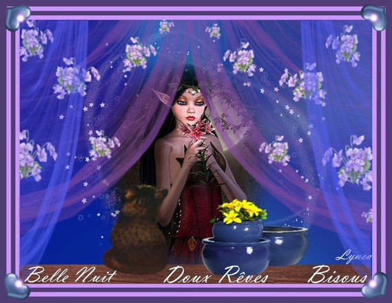 Belle Nuit Doux Rêves-Bisous de Lynea