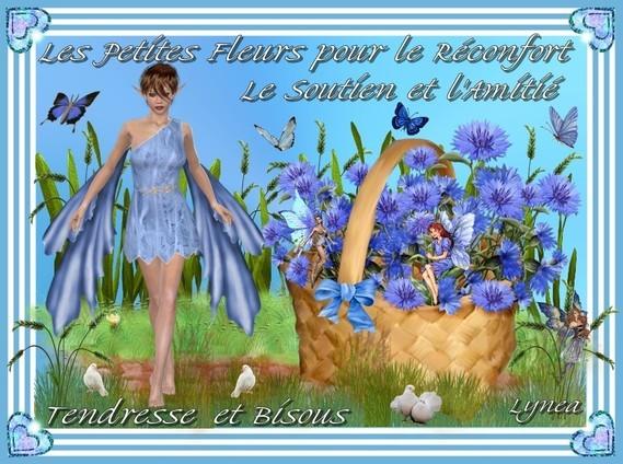 Les petites fleurs pour le réconfort, le soutien et l'amitié-bisous et tendresse de Lynea
