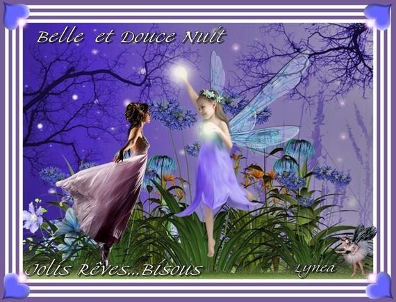 Belle et doucenuit---jolis rêves---bisous de Lynea