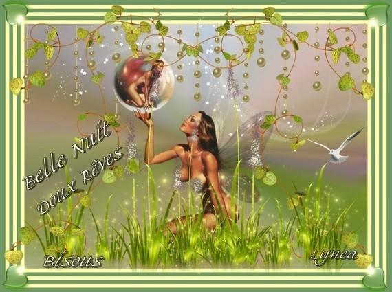 Belle nuit -doux rêves- bisous de Lynea