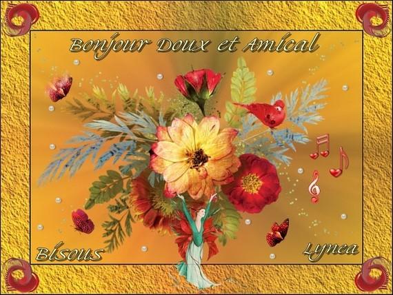 Bonjour doux et amical-Bisous de Lynea