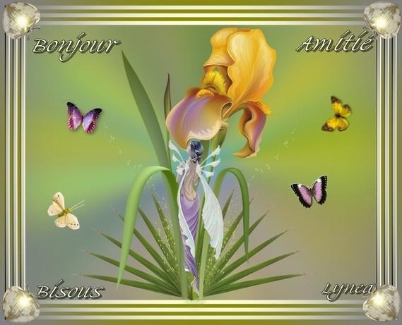 Bonjour-Amitié-Bisous de Lynea