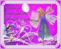 Douces pensées- Ballon de la Joie-Amitié-tendresse-bisous de Lynea