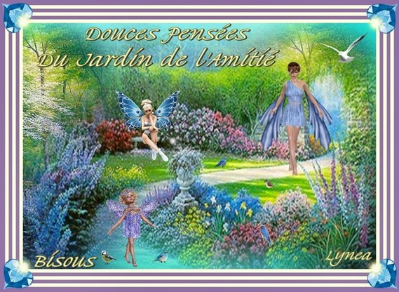Douces pensées-Amitié dans le Jardin-Bisous de Lynea