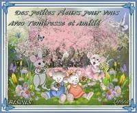 Des petites fleurs pour vous---avec tendresse et amitié-Bisous de Lynea